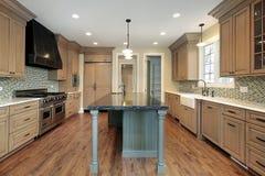 Cucina nella casa della nuova costruzione Fotografia Stock