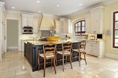 Cucina nella casa di lusso Fotografia Stock