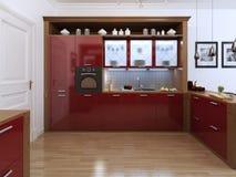 Cucina nello stile di Art Deco Illustrazione Vettoriale
