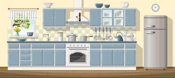 Cucina ofclassic dell'illustrazione Fotografia Stock