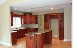 Cucina parzialmente ammobiliata Fotografia Stock Libera da Diritti