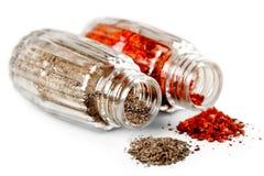 Cucina piccante variopinta ricca: Spezie naturali e fotografia stock