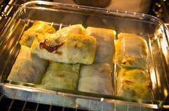 Cucina polacca dell'alimento di golabki, ricetta locale unica Immagini Stock
