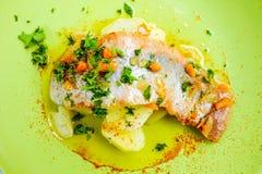 Cucina pranzante fine Fotografia Stock Libera da Diritti