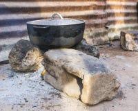 Cucina primitiva Fotografie Stock Libere da Diritti