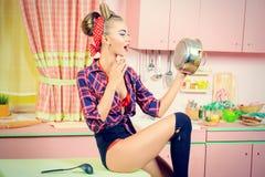 Cucina rosa Fotografia Stock