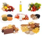 Cucina separata per il sistema di dieta di nutrizione Fotografie Stock Libere da Diritti
