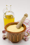 Salsa della maionese dell'aglio. Alioli. Fotografie Stock Libere da Diritti