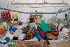 Cucina sporca sudicia Immagine Stock