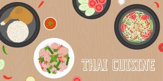Cucina tailandese Fotografie Stock Libere da Diritti