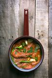 Cucina tradizionale di Thaifood Tom Yam Kung in Tailandia Fotografie Stock