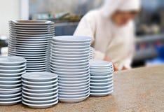 Cucina in un ristorante Fotografia Stock Libera da Diritti