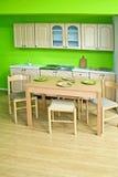 Cucina verde Fotografie Stock Libere da Diritti