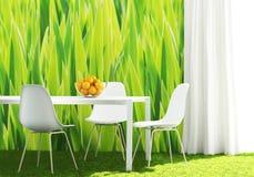 Cucina verde concettuale Immagini Stock Libere da Diritti