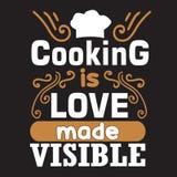 Cucinando citazione e dire buone per le collezioni di stampa royalty illustrazione gratis