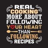 Cucinando citazione e dire buone per le collezioni di stampa illustrazione di stock