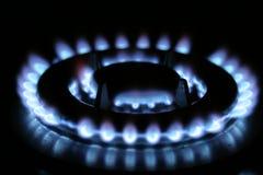 Cucinando con il gas fotografia stock