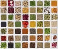 Cucinando gli ingredienti - sapore e condire immagini stock libere da diritti
