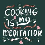 Cucinando la nota di meditazione fatta con inchiostro royalty illustrazione gratis