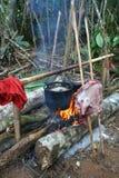 Cucinando nella giungla Fotografia Stock