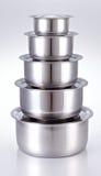 Cucinando vaso fatto di acciaio inossidabile Immagini Stock