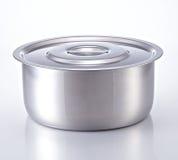 Cucinando vaso fatto di acciaio inossidabile Fotografia Stock Libera da Diritti
