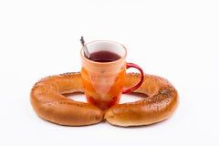 Pane e tè Fotografia Stock