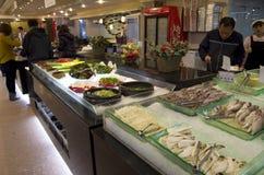 Cucine coreane del ristorante del buffet fotografia stock libera da diritti