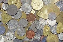 Cucini il dollaro di Islands ed e backg misto delle monete del dollaro di Nuova Zelanda Fotografia Stock Libera da Diritti