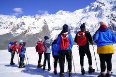 Cucini la montagna di Snow immagini stock