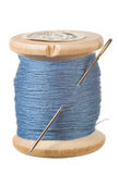Cucito blu Fotografia Stock