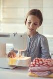 Cucito del bambino Fotografie Stock