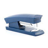 Cucitrice meccanica blu isolata su fondo bianco immagine stock libera da diritti