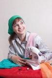 Cucitrice sorridente Fotografia Stock Libera da Diritti
