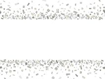 Cucitura d'argento 2 dei coriandoli Immagine Stock Libera da Diritti