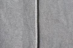 Cucitura verticale sul panno Fotografia Stock Libera da Diritti