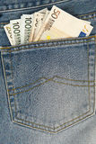 Cuciture del classico in jeans Immagini Stock