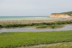 Cuckmere避风港在东萨塞克斯郡,英国 免版税库存图片