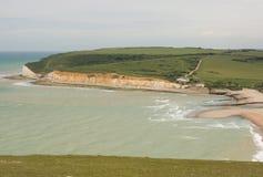 Cuckmere避风港在东萨塞克斯郡,英国 免版税库存照片