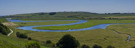 Cuckmere River Landscape Royalty Free Stock Photography