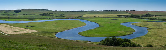 Cuckmere River Landscape at Seven Sisters Stock Photography