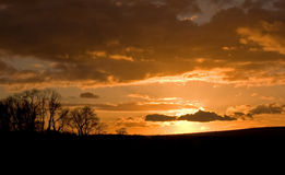 Cuckmere Valley sunset Royalty Free Stock Image