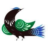 Cuckoo. Bird in the Russian style stock illustration