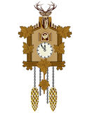 Cuckoo Clock. Picture of a wooden German Cuckoo clock Royalty Free Stock Photo