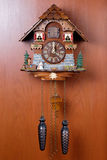 Cuckoo clock with birdie Stock Images