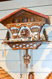 Cuckoo clock in the black royalty free stock image