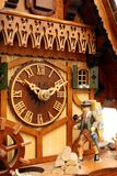 Cuckoo clock. Black forest`s mechanical cuckoo clock Stock Image