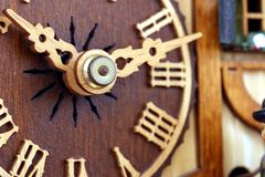 Cuckoo clock. Black forest`s mechanical cuckoo clock Stock Photography