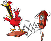 Cuckoo clock. A cartoon cuckoo clock. layered vector and high resolution jpeg Stock Image