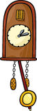 Cuckoo clock clip art cartoon illustration Stock Photos